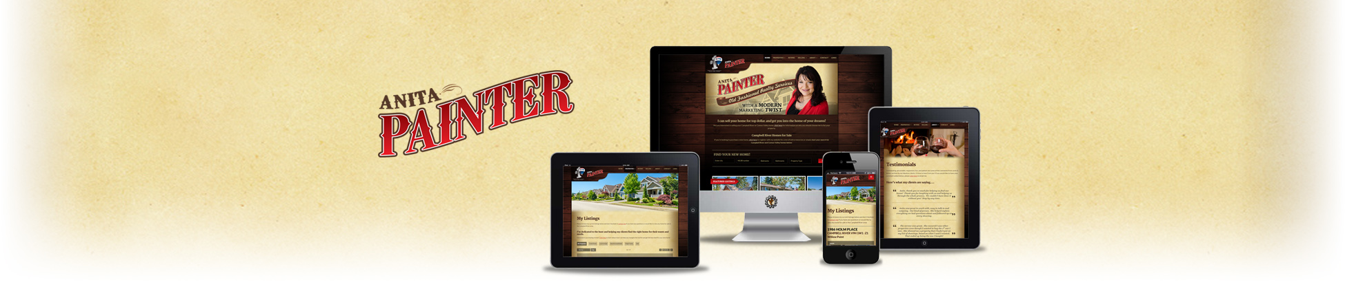 Website design for Anita Painter Campbell River Realtor