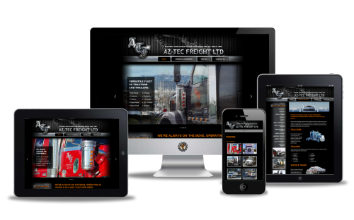 Aztec Freight website designed by Vancouver Island Designs