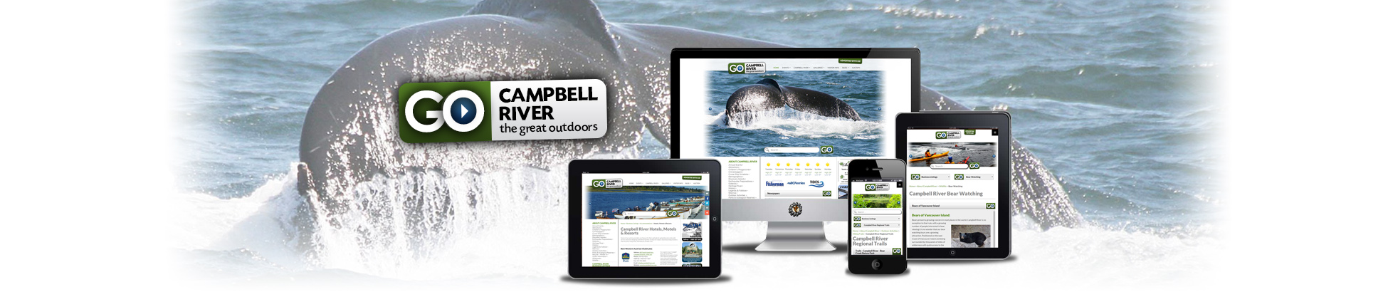 Website design for gocampbellriver.com