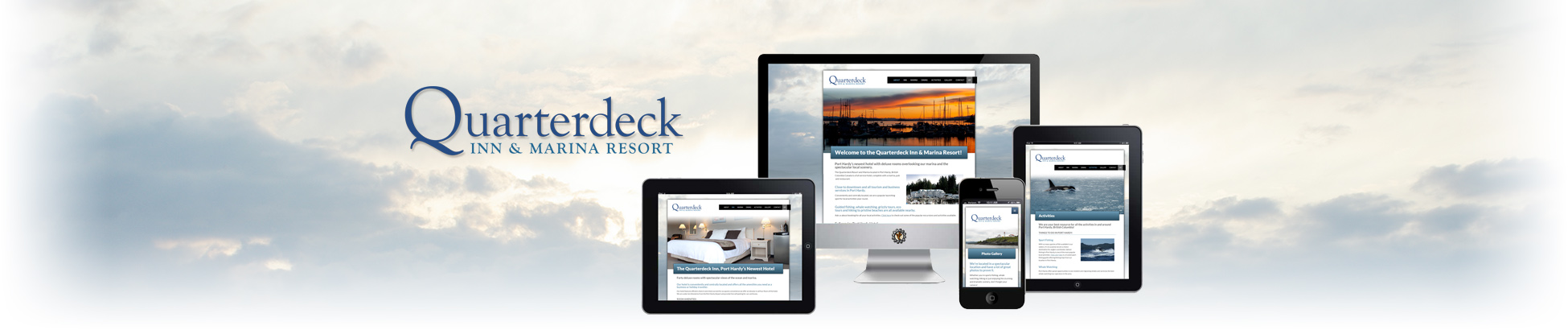 Website design for the Quarterdeck Resort