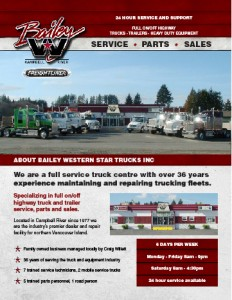 Brochure design for Bailey Western Star by Vancouver Island Designs