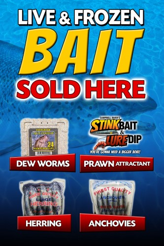 Graphic design by Vancouver Island Designs for Campbell River Stink Bait & Lure Dip