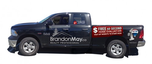 Vehicle decal design for Brandon May Realty Professional Campbell River