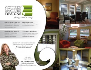 Graphic design for Colleen McClure Designs Campbell River