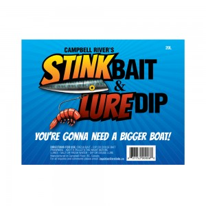 CR Stink Bait label design