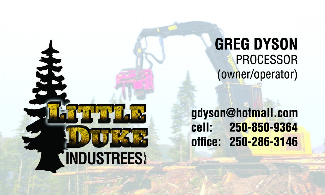 Business Cards for Little Duke Industrees Campbell River