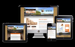 Website design for Advantage Self Storage in Port Hardy