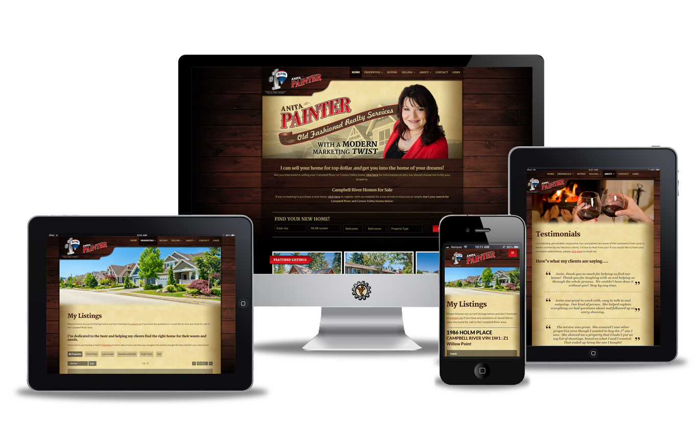 Website design for AnitaPainter.com
