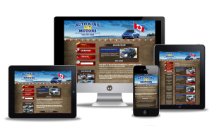 Website design for Auto King Motor Campbell River