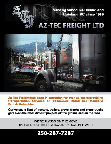 Graphic design for Aztec Freight Campbell River