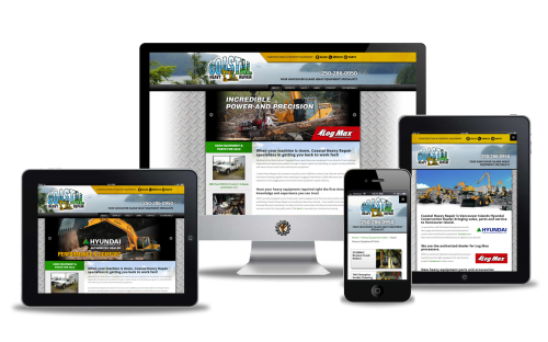 coastalheavyrepair.com website designed by Vancouver Island Designs