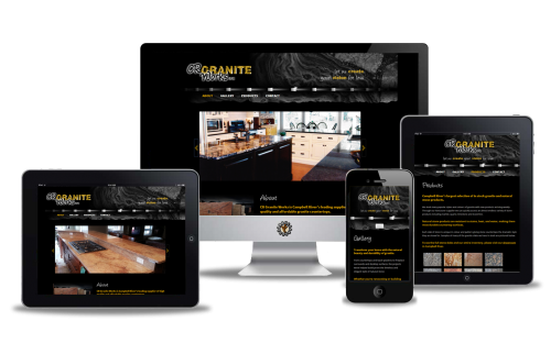 Website design for CR Granite