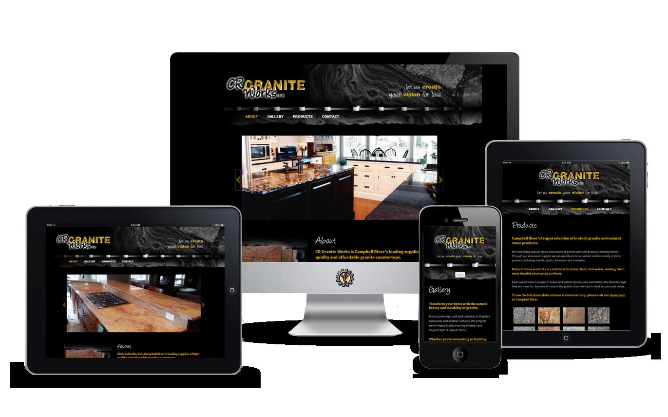 Website design for CR Granite