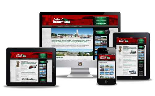 Island Ready-Mix website design by Vancouver Island Designs