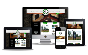website design for KLP Construction by Vancouver Island Designs