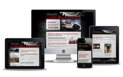 North Island Machine Works website design by Vancouver Island Designs