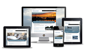 Quarterdeck Port Hardy website design by Vancouver Island Designs