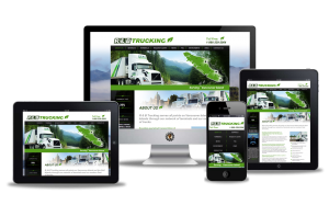 R & B Trucking website design by Vancouver Island Designs