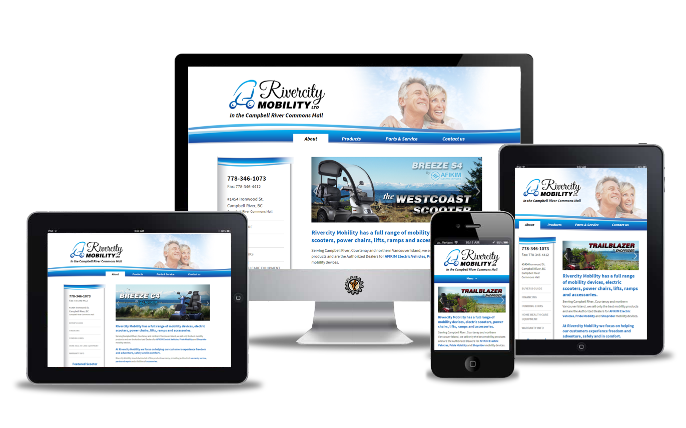 Rivercity Mobility Campbell River website design by Vancouver Island Designs