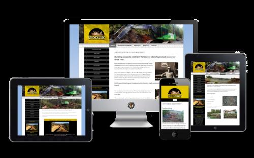 North Island Rockpro Port Hardy website design by Vancouver Island Designs