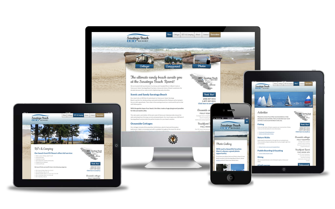 Saratoga Beach website design by Vancouver Island Designs