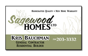 Sagewood Homes Business card design by Shelby