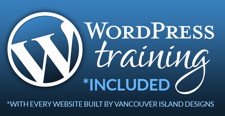 Wordpress training at Vancouver Island Designs