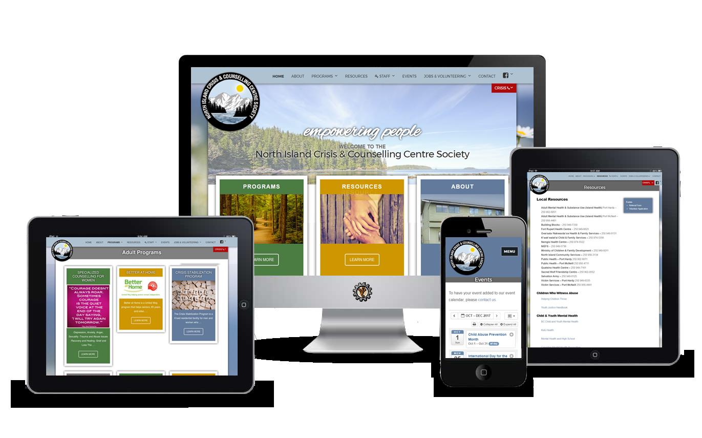 nicccs website design