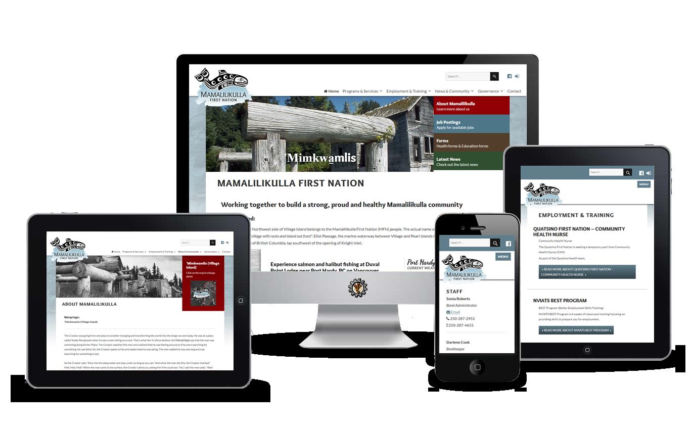 website design for first nation