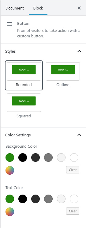 Button Block Formatting
