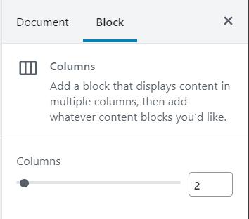 Column Block Formatting