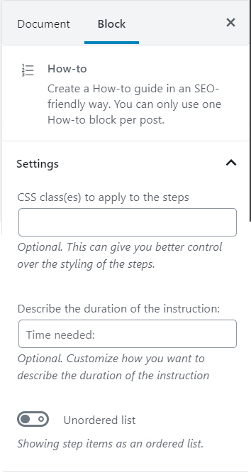 How To Content Block Formatting