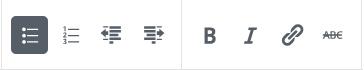 List Formatting Toolbar