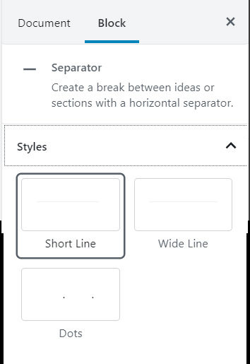 Separator Block Formatting