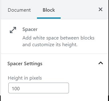 Spacer Block Formatting