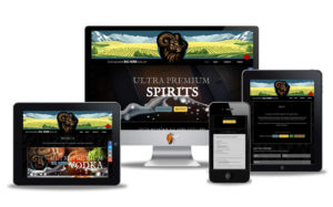 craft distillery website design
