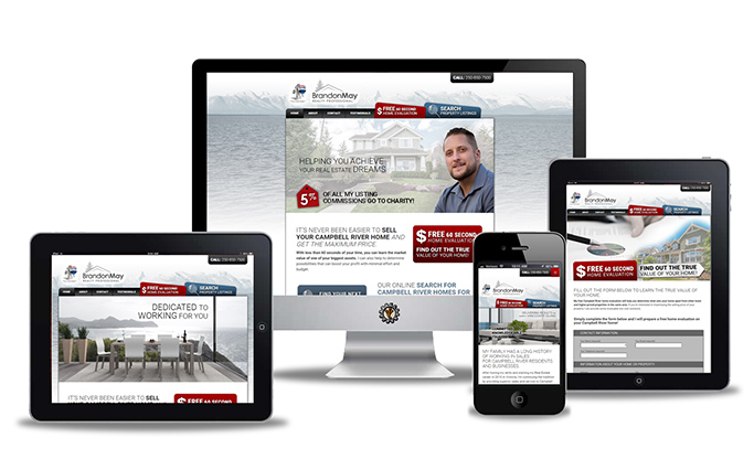 website design by Vancouver Island Designs for Brandon May Realty Professional