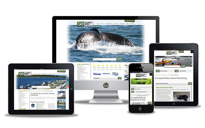 Website design for gocampbellriver.com by Vancouver Island Designs