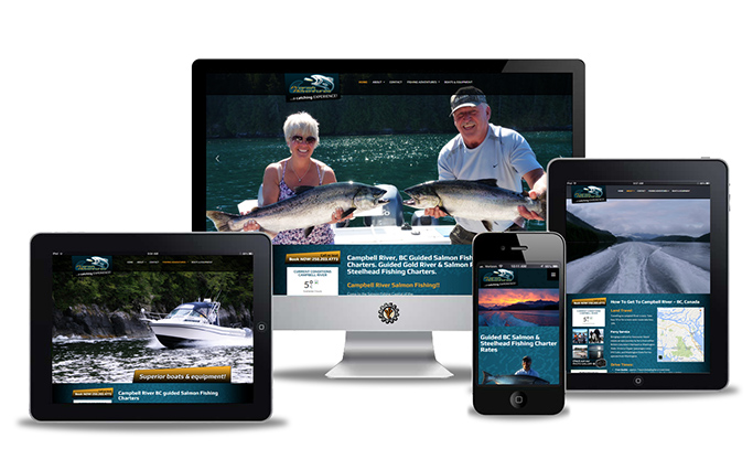 Profish Adventures website design by Vancouver Island Designs