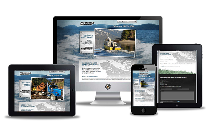 Progressive Marine Leasing website design