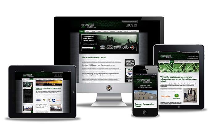 Progressive Diesel Port McNeill website design by Vancouver Island Designs
