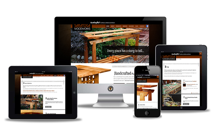 saratoga woodworks website design