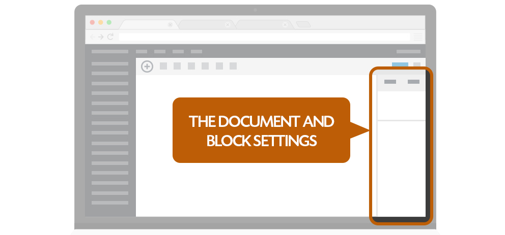 document and block settings.