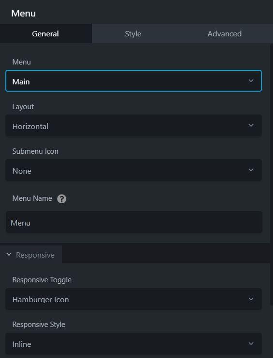 menu module