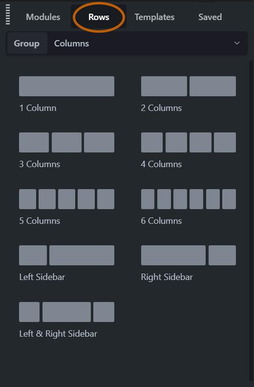 rows module