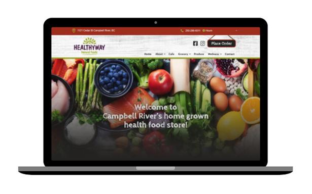 Grocery store website design