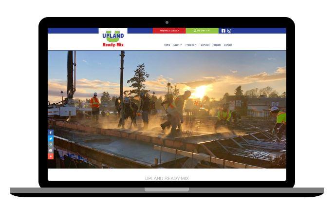 concrete company website design