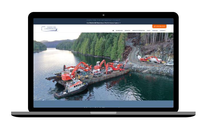 website design for marine transportation